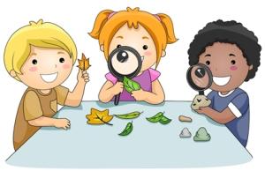 niños explorar