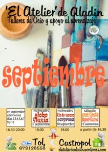 007 cartel actividades septiembre 10x14