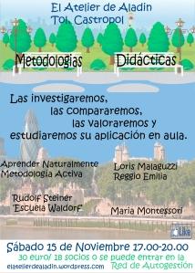 Cartel metodologías Didacticas